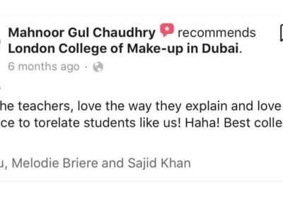 Testimonials - Mahnoor Gul Chaudhary